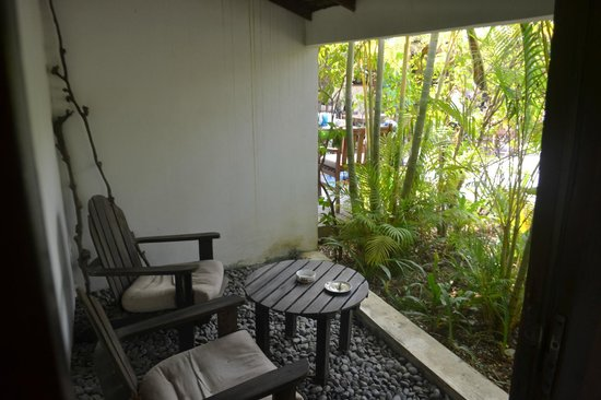 Phka Villa: our secluded private patio