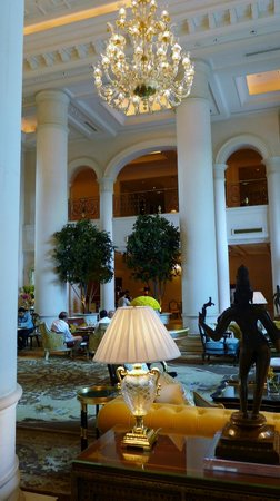 The Leela Palace New Delhi: Lobby and location where you wait to check in upon arrival.