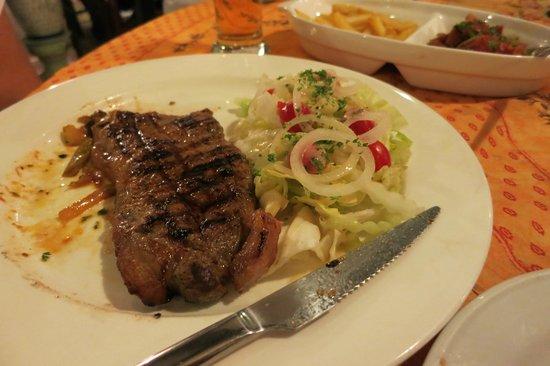 Restaurant Le Provencal : Steak on the tourist set