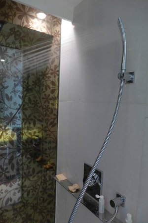 Naumi Hotel: Shower installed for 6 feet above people
