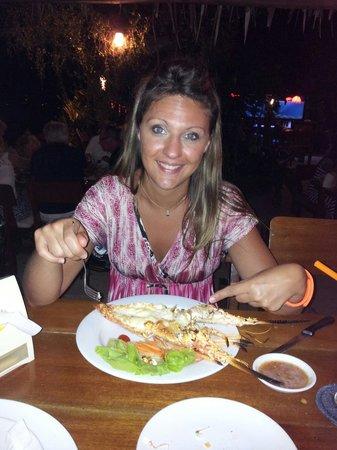 Nikitas Beach Restaurant : La langouste qui reste cher