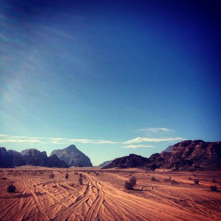 Obeid's Bedouin Life Camp: Driving around this stunning scenery