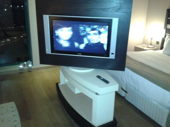"""Holiday Inn Istanbul Airport-North: Old-fahioned """"flat"""" TV with no inputs for computer"""