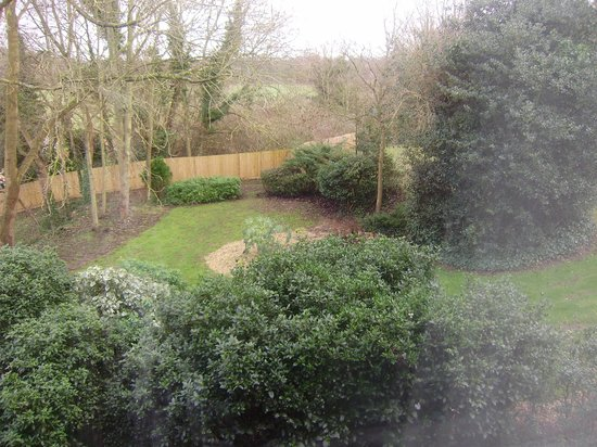 Burnham Beeches Hotel: the view from our room of the many gardens