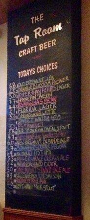 Hollander Hotel: The craft beer menu this particular night.