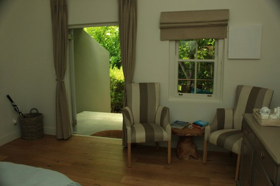 Angala Boutique Hotel and Guest House: View from bed to outside
