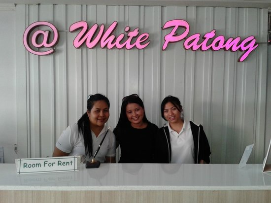 My wife and White Patong staff