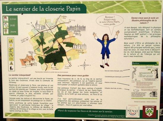 Les Yourtes de l'Artouillat : Sentier de randonnée Denis Papin