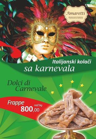 Amaretti Pasticceria Italiana: Dolci di carnevale