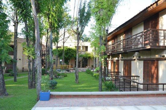 Hotel Blumig: jardin interno
