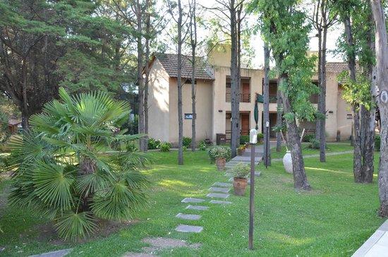 Hotel Blumig: jardin