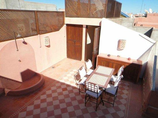 Riad Cherrata : The terrace