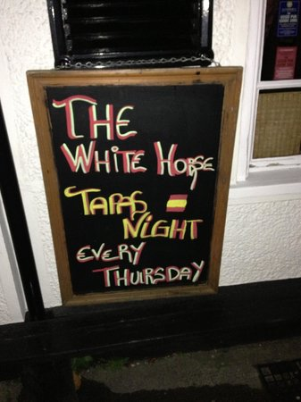 The White Horse Public House: Every Thursday a little bit of sunshine
