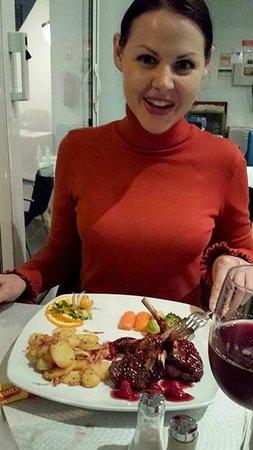 Dom Capito: Rack of Lamb in raspberry sauce