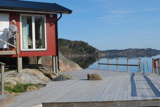Slussens Pensionat: Vedeldad havsbastu och soldäck