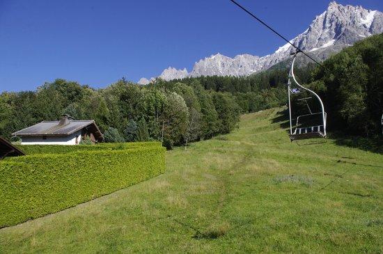 Glacier des Bossons : going towards glacier