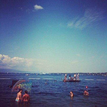Bains des Paquis : Bain de Paquis - Agosto 2013