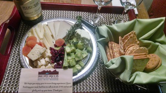 Snake River Lodge and Spa: Welcome Platter