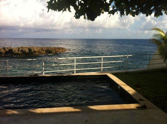 The Trident Hotel: Веранда виллы с маленьким бассейном и видом на море