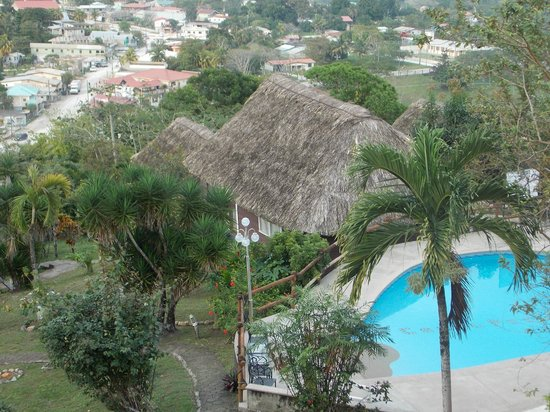 Cahal Pech Village Resort : View of San Ignacio and part of CP grounds