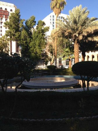 Gardens just outside hotel. In the background is Elaf Taiba hotel (left) and Movenpick Hotel (ri