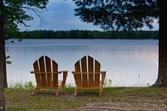 Two Inlets Resort: Adirondack chairs for relaxing lakeside