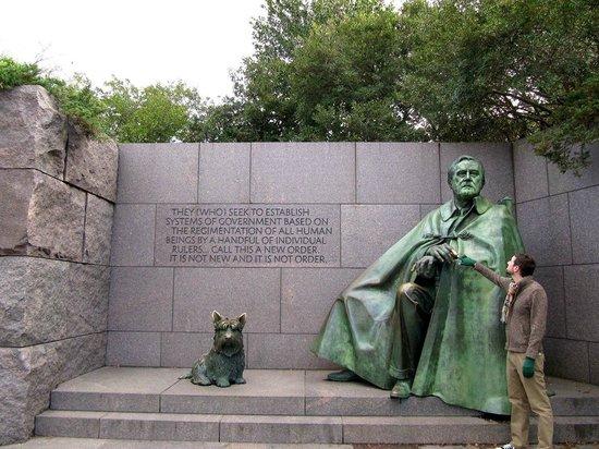 Franklin Delano Roosevelt Memorial: FDR...the dog was feral
