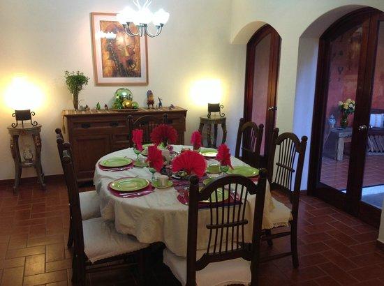 Estancia de Valencia: La sala da pranzo