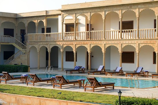 View Of Swimming Pool Picture Of Club Mahindra Jaisalmer Jaisalmer Tripadvisor