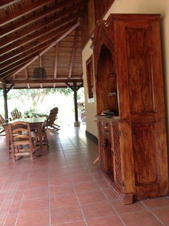 Finca San Juan de la Isla: main cabin/club house/dining patio