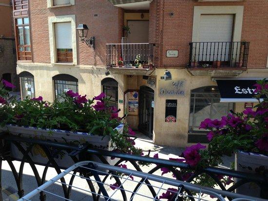 Albergue Puerta de Nájera: View from our room.
