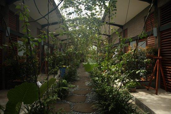 Komune Resort, Keramas Beach Bali: path to rooms