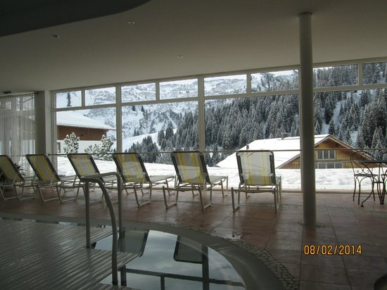 Hotel Hohes Licht: Stunning view from the pool area