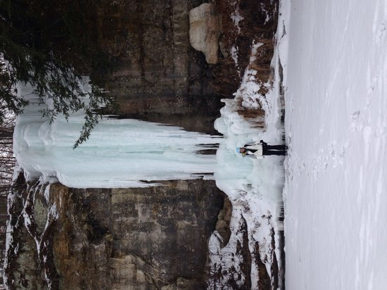 Apex Adventure Alliance - Day Tours: This ice is really tall and challenging.