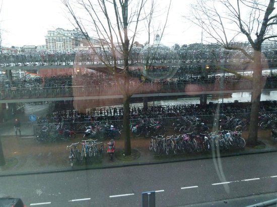 Ibis Amsterdam Centre: View from the room - most of the bikes never seemed to move!