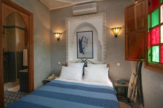 Riad Mazal: chambre bleu