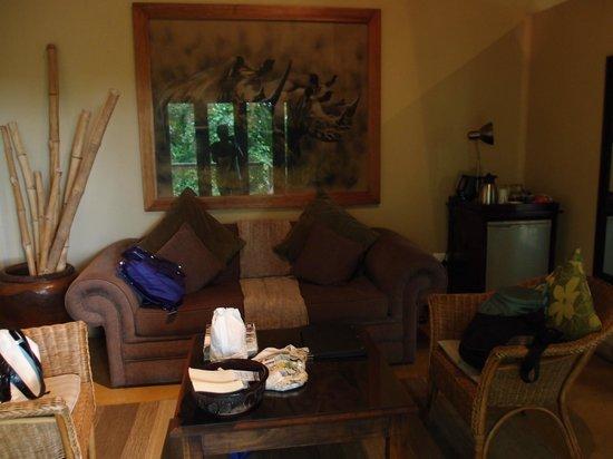 Elephant Plains Game Lodge : Nice sitting area - Rhino room