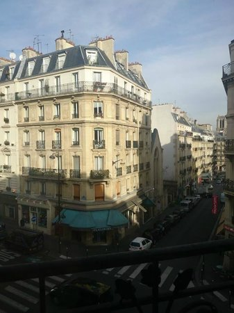Hotel Saint-Jacques: view from room 14, 3rd floor