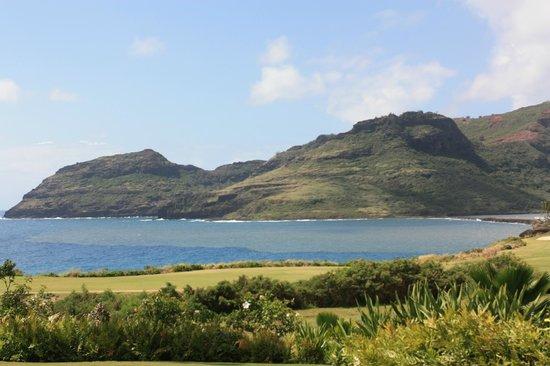 Marriott's Kauai Lagoons - Kalanipu'u : View of the Mountains and the waterway inlet