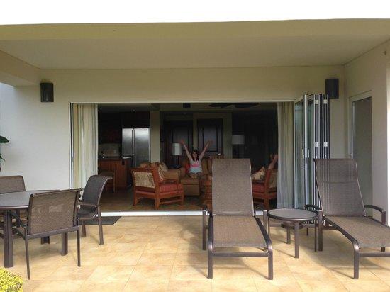 Marriott's Kauai Lagoons - Kalanipu'u: Looking inside from the lanai