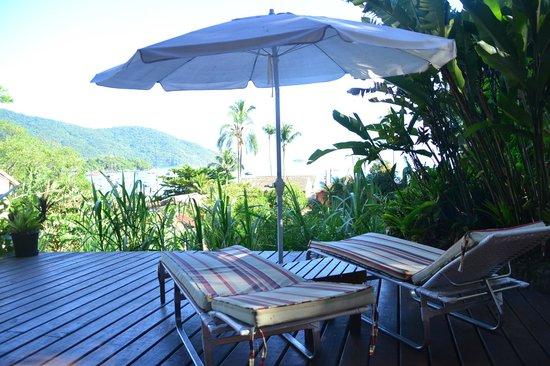 Pousada Tagomago Beach Lodge: Vista desde el desayuno.