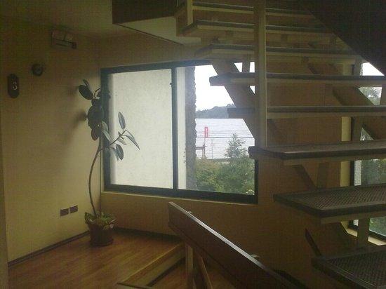 Hotel y Cabanas Terrazas Del Lago: escaleras