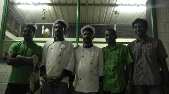 Spice Garden Restaurant: The staff of Spicegarden Restaurant, with the owner (second from the right)