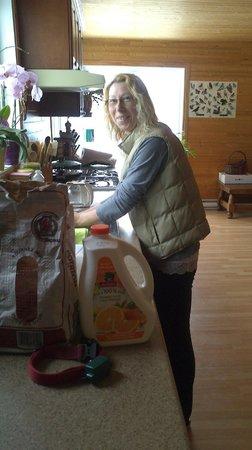 Gite du Maudit Francais: Angeline aux fourneaux