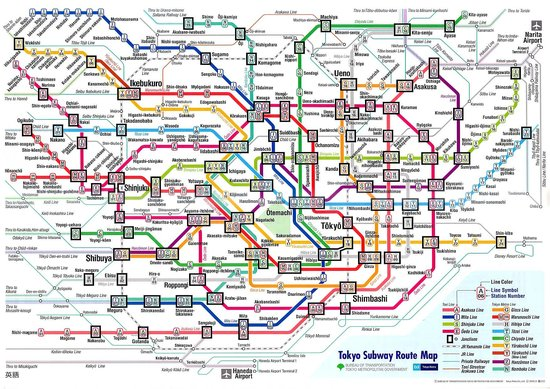 Tokyo Subway Map.Tokyo Subway Map Picture Of Hotel Century Southern Tower Shibuya