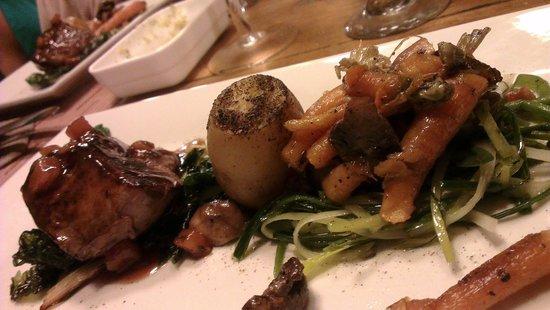 La Ardilena: uno de los platos Gourmet de la cena