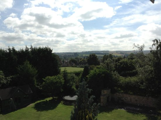 Cherry Trees Bed and Breakfast: View of countryside from skylight window