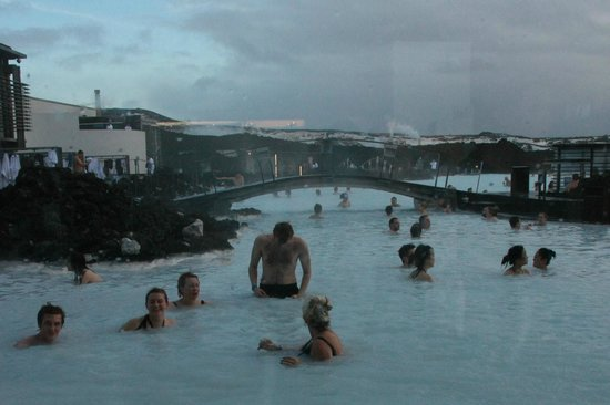 Blue Lagoon: Our family group enjoying the outdoor spa