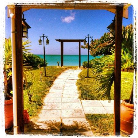 La Bussola Restaurant : Exit on the beach