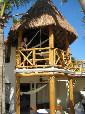 Mahekal Beach Resort: Two story palapa